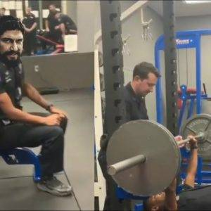 Guy Challenges Cop to Bench Press For Money
