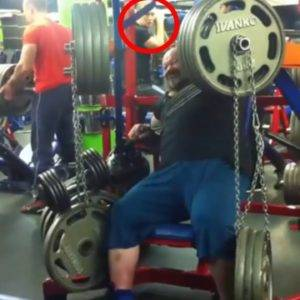 Tough Guy Shows Off Strength At The Gym