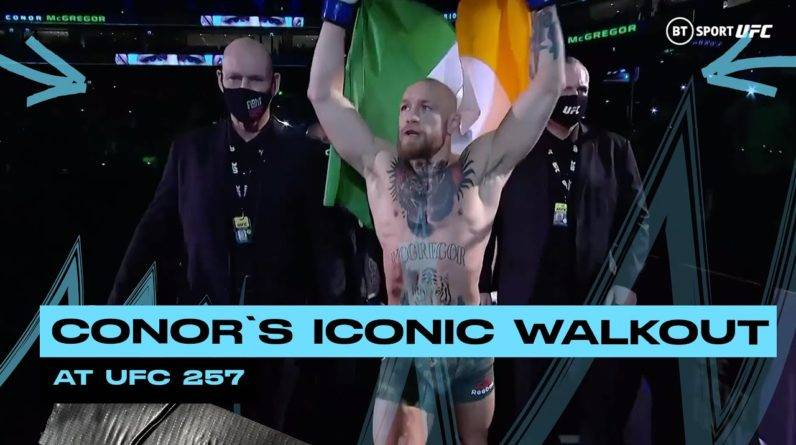 Conor McGregor's iconic walkout at UFC 257